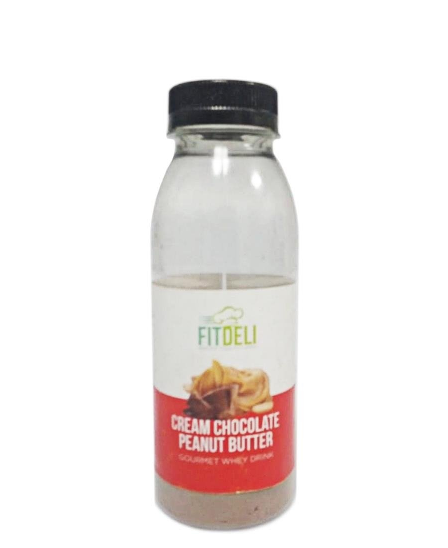 Fitdeli Cream Chocolate Peanut Butter Gourmet Whey Drink - White