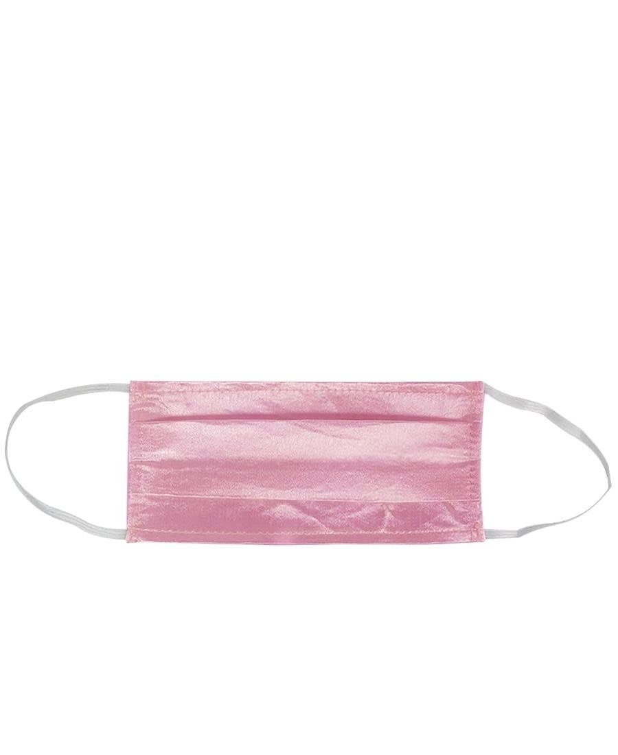 2Ply Satin Face Mask Pack Of 5 - Pink