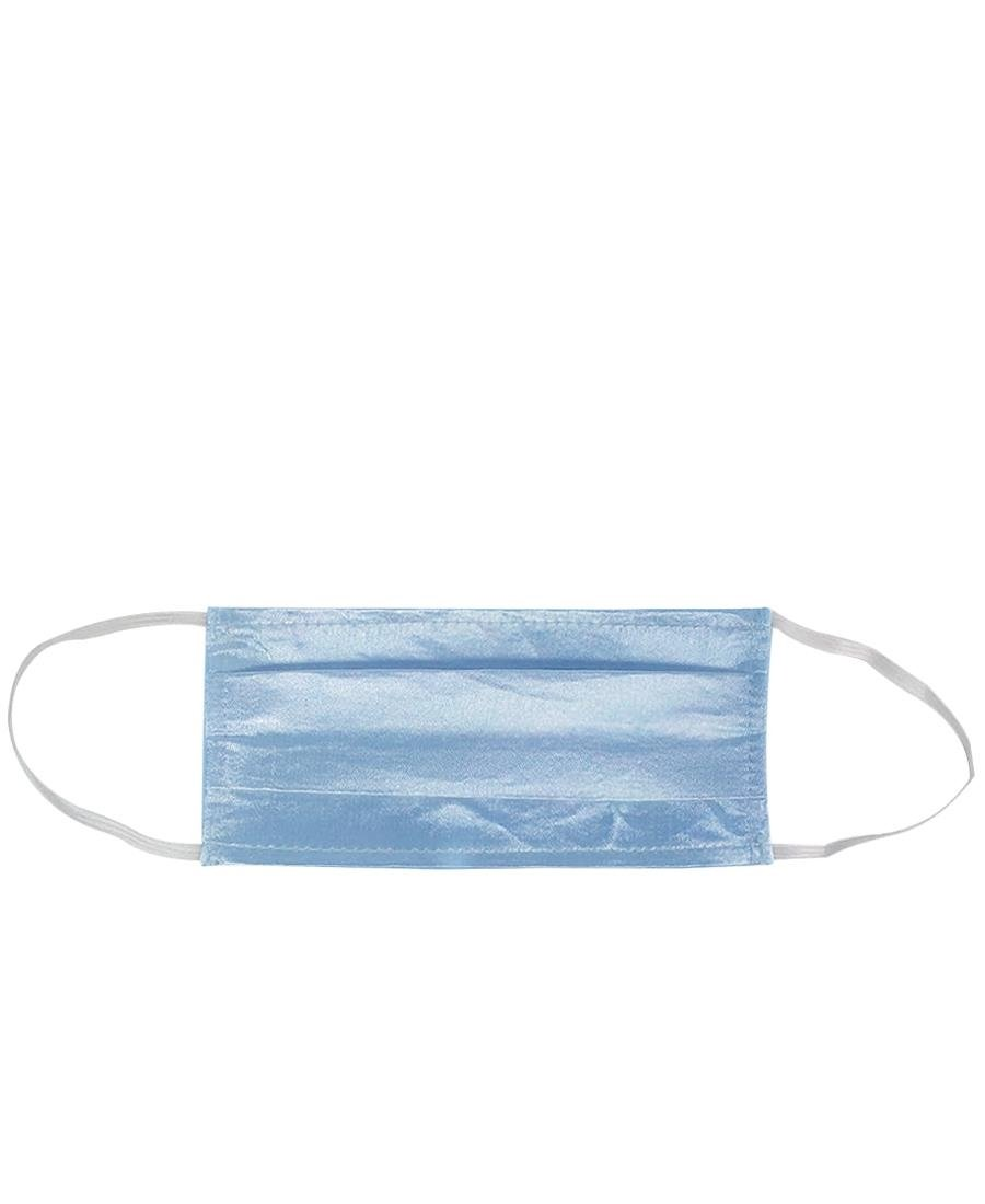 2Ply Satin Face Mask Pack Of 5 - Blue