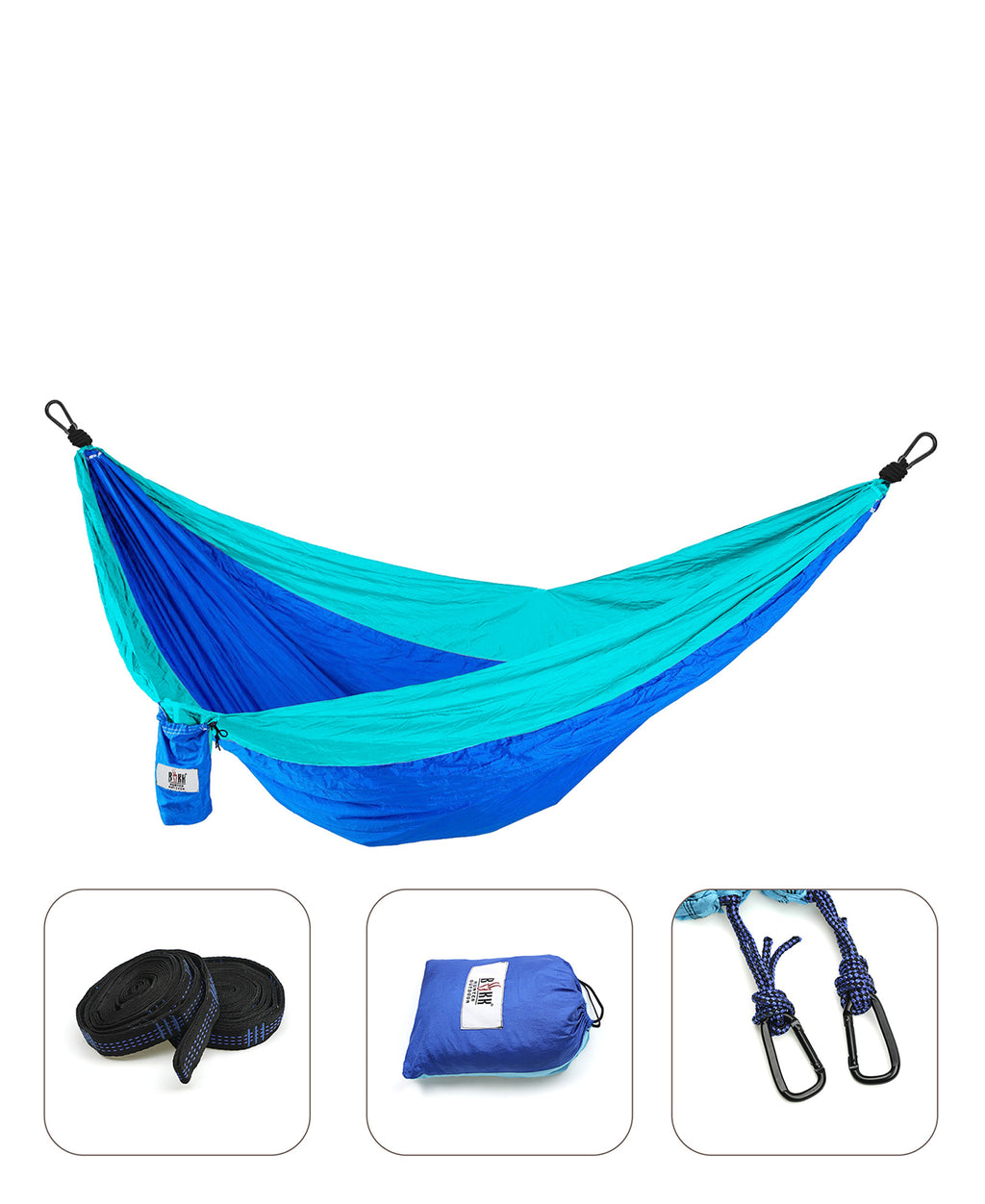 Compactable Double Hammock - Blue
