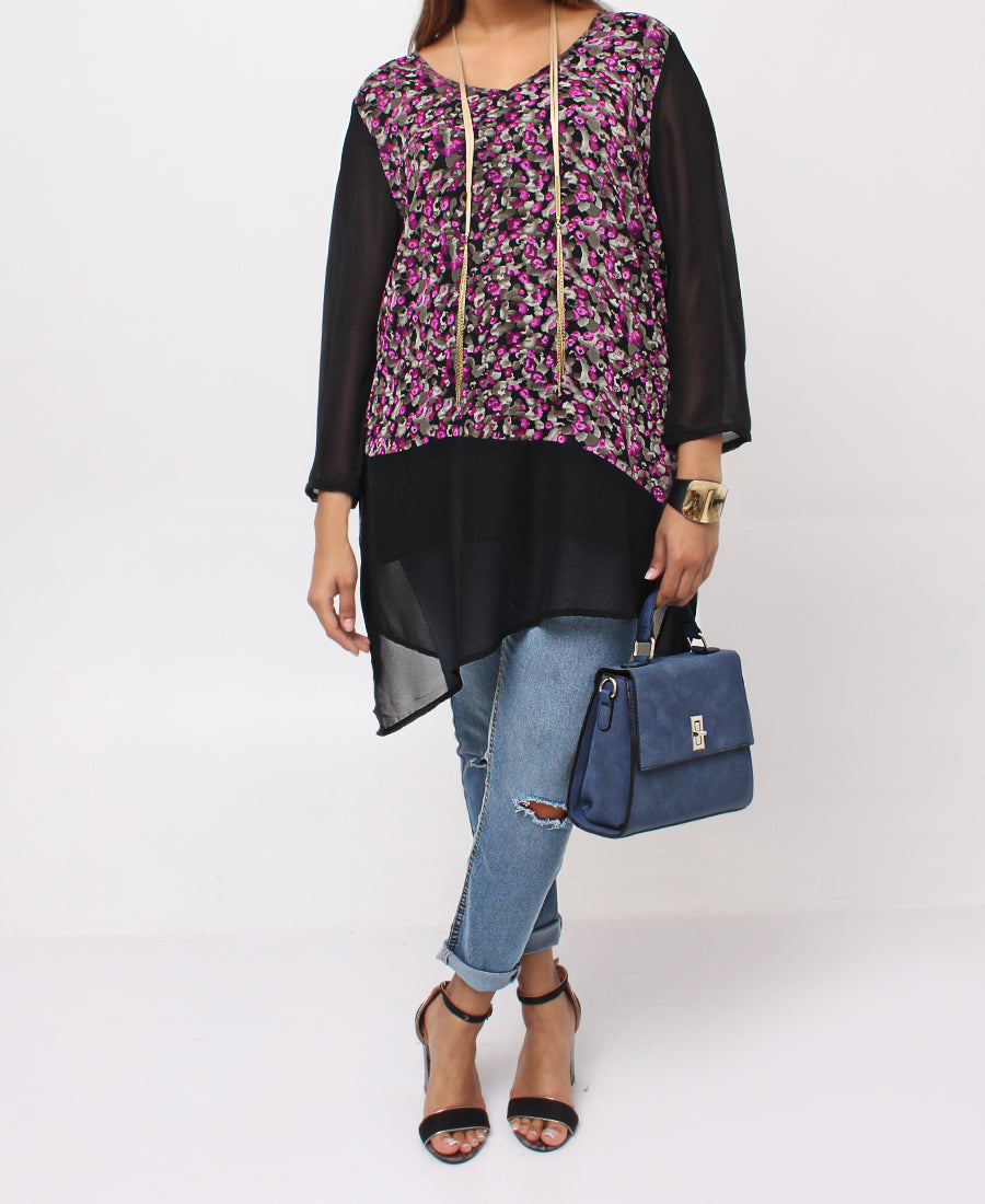 Chiffon Top - Purple
