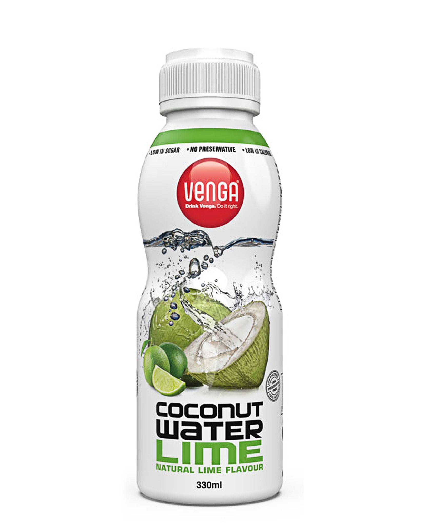 Lime Flavoured Coconut Water 330ml - White