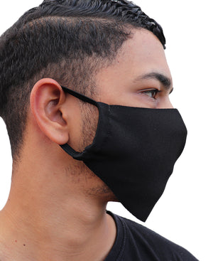 Pack Of 100 1 Ply Cloth Face Masks - Black