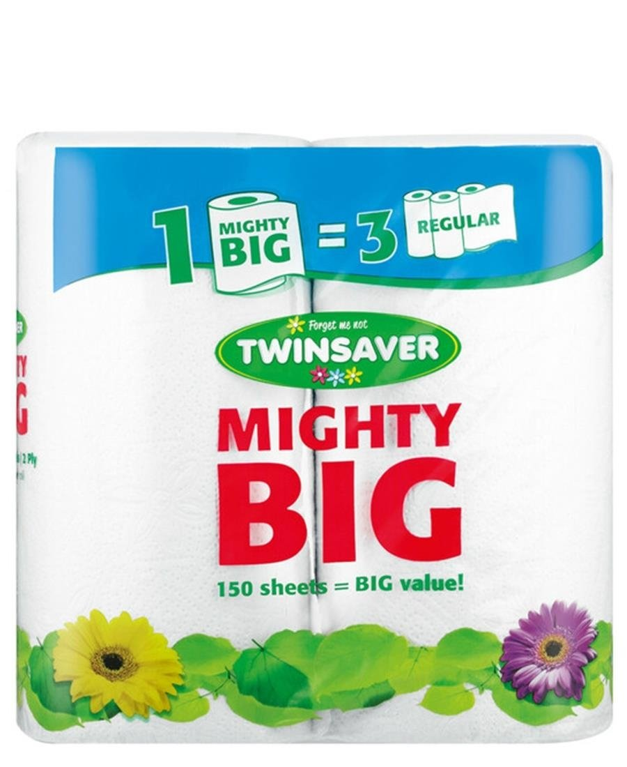 Twinsaver Roller Towels Mighty Big 2s - White