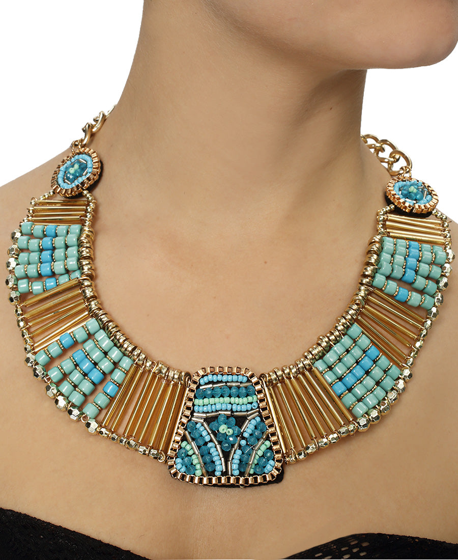 Statement Neckpiece - Blue