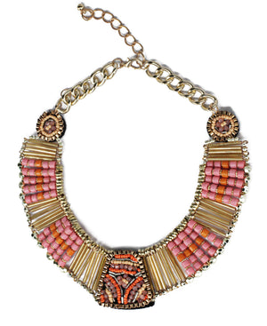 Statement Neckpiece - Pink