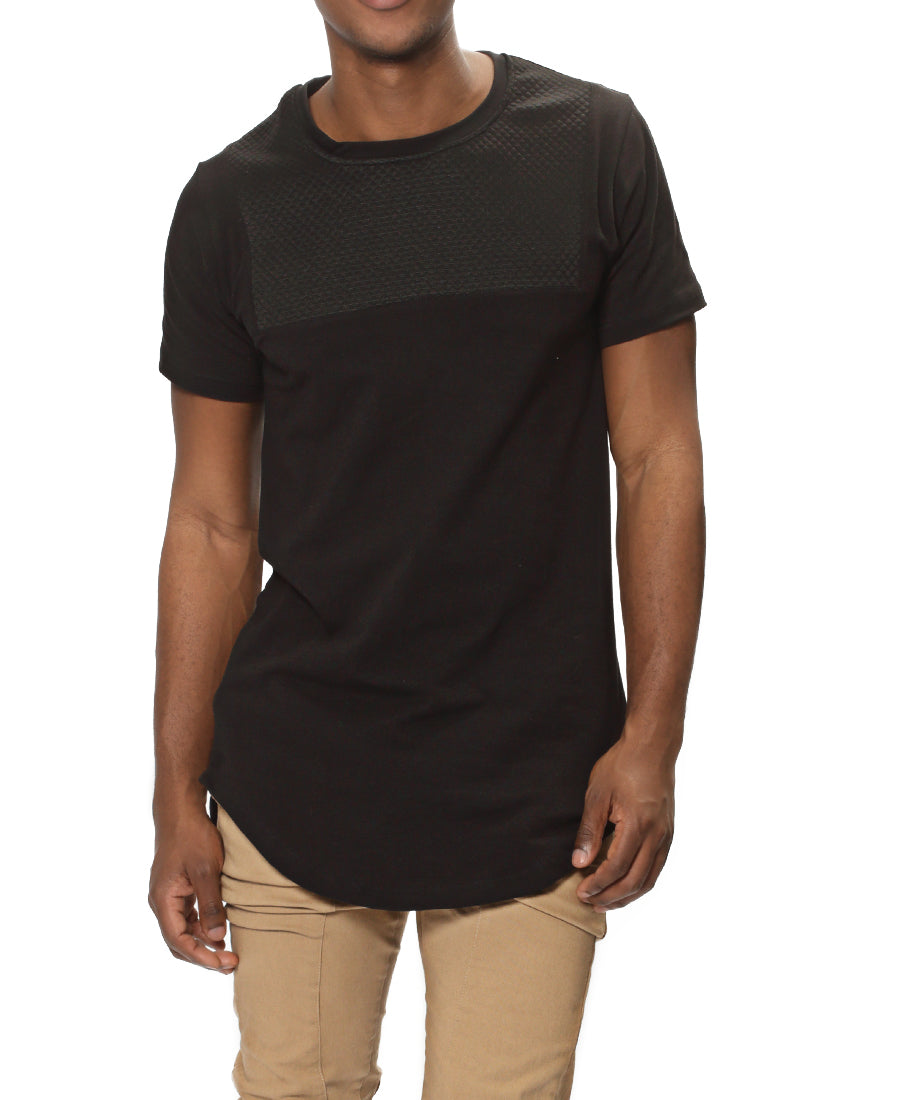 Longer Length Tee - Black