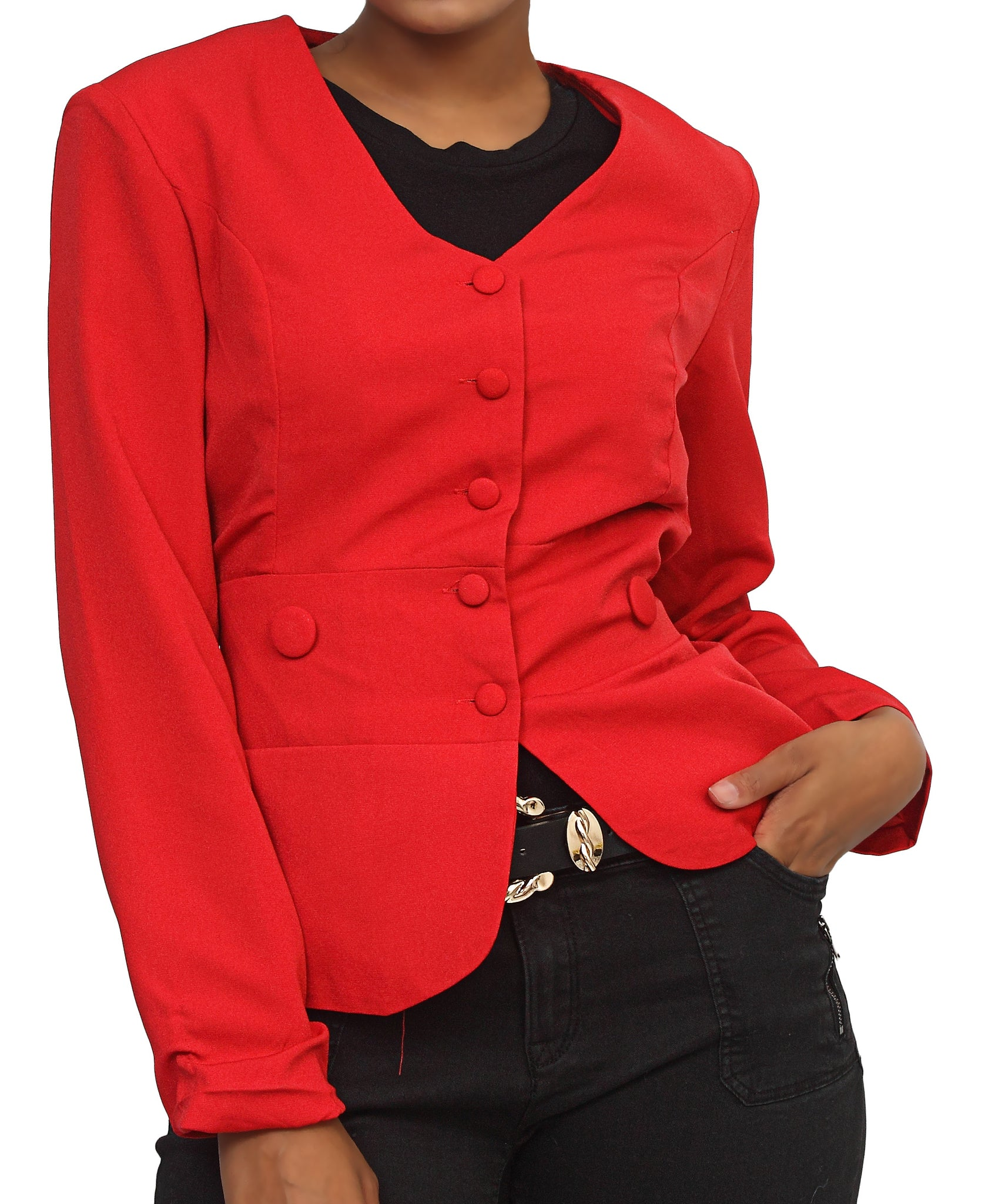 Casual Coat - Red