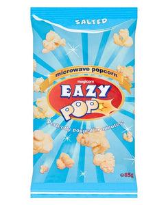 Easy Pop Microwave Popcorn Salted  85g - Blue