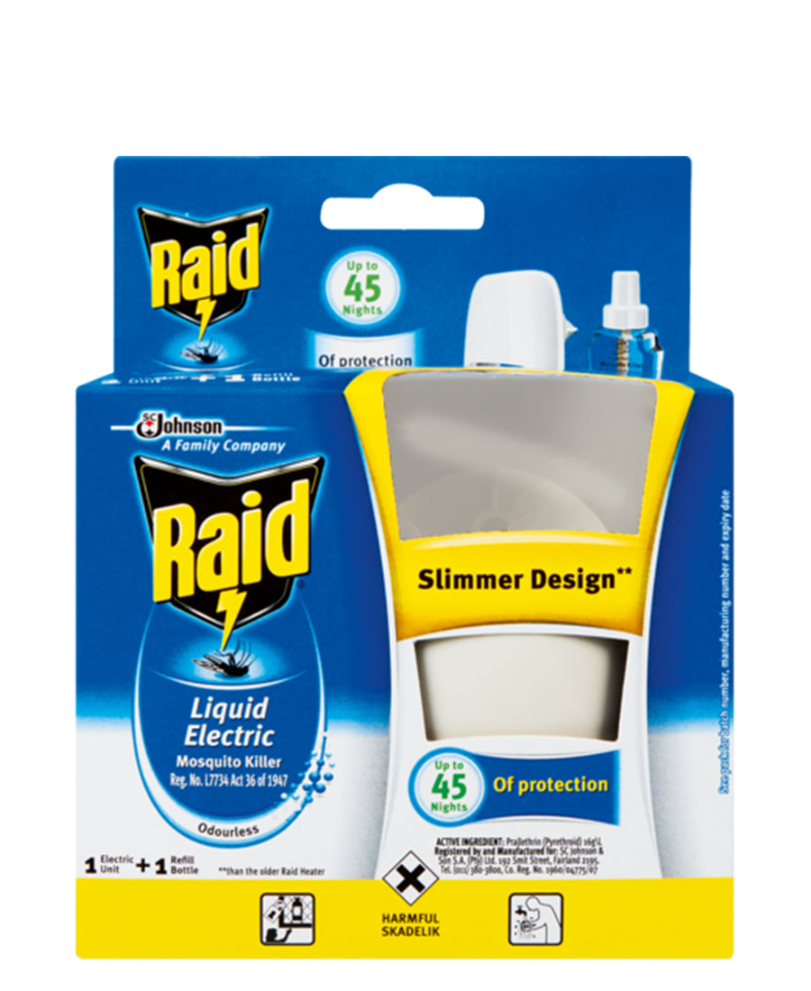 Raid Liquid Electric Mosquito Killer 33ml - Blue