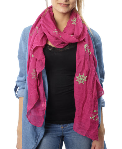 Anchor Scarf - Pink