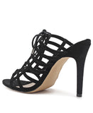 Strappy Heel - Black