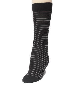 Thin Stripe Socks - Black