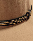Stud Belt Hat - Beige