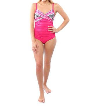 Cross Front Suit - Pink