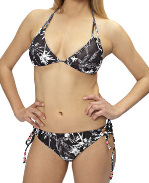 Plenty Of Palm Bikini Bottom - Black