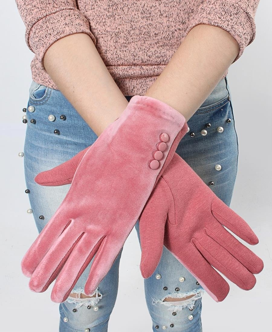 Velour Gloves - Mink