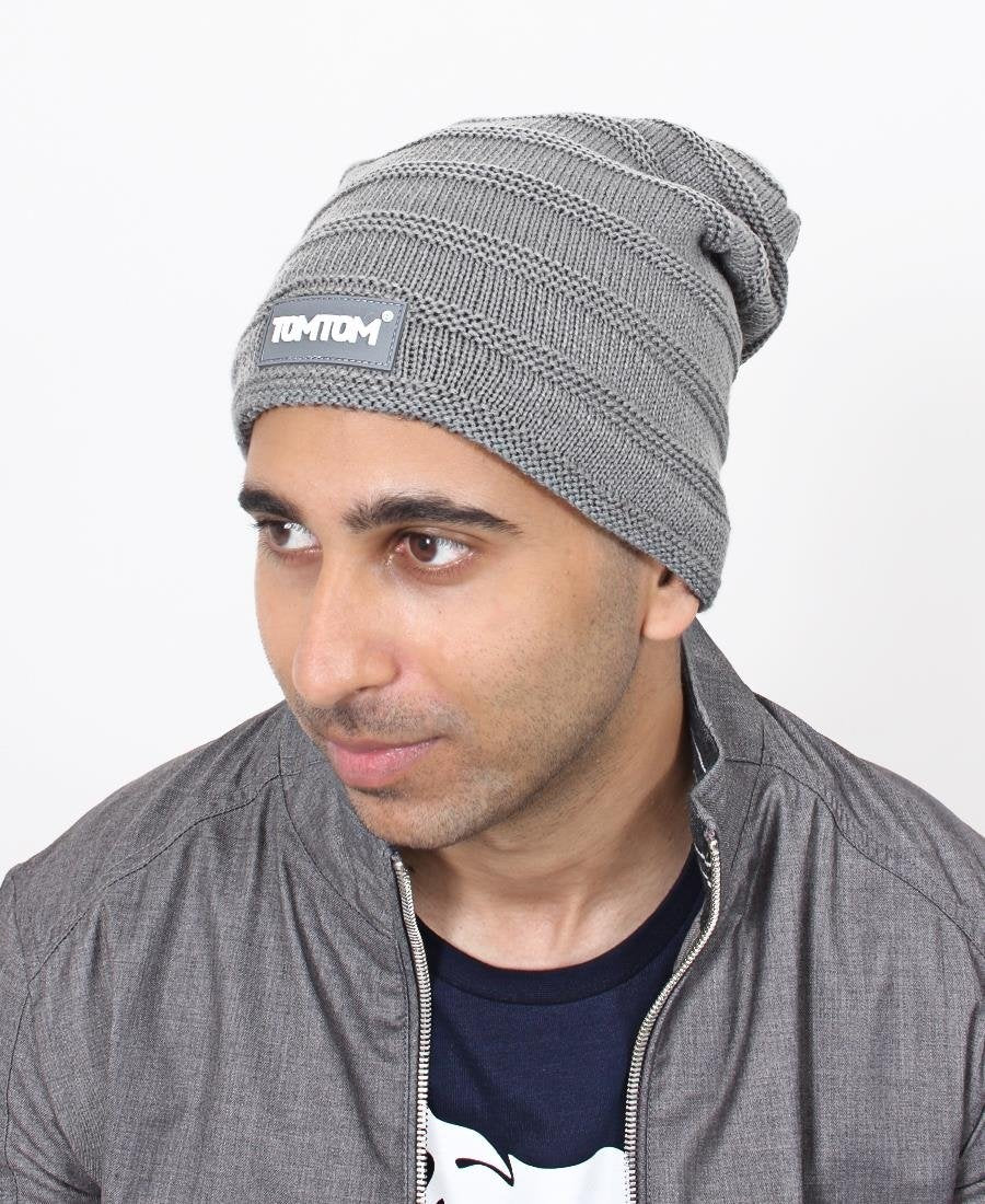 Ribbed Unisex Beanie - Grey
