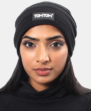 Ribbed Unisex Beanie - Black