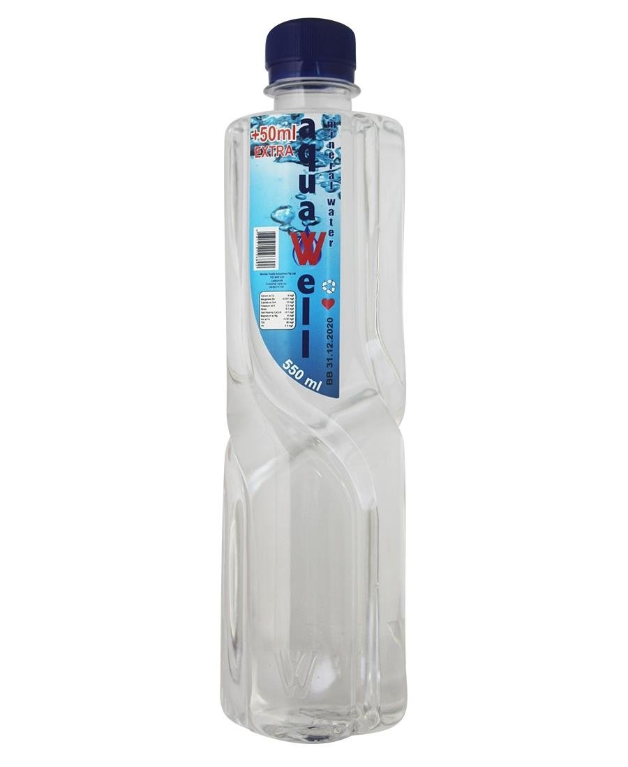 Aqua Well  Water 550ml - Clear