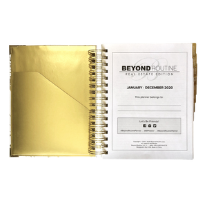 2020 Beyond Routine Daily Real Estate Planner | Modern Floral