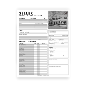 Buyer & Seller Contact Information Sheets