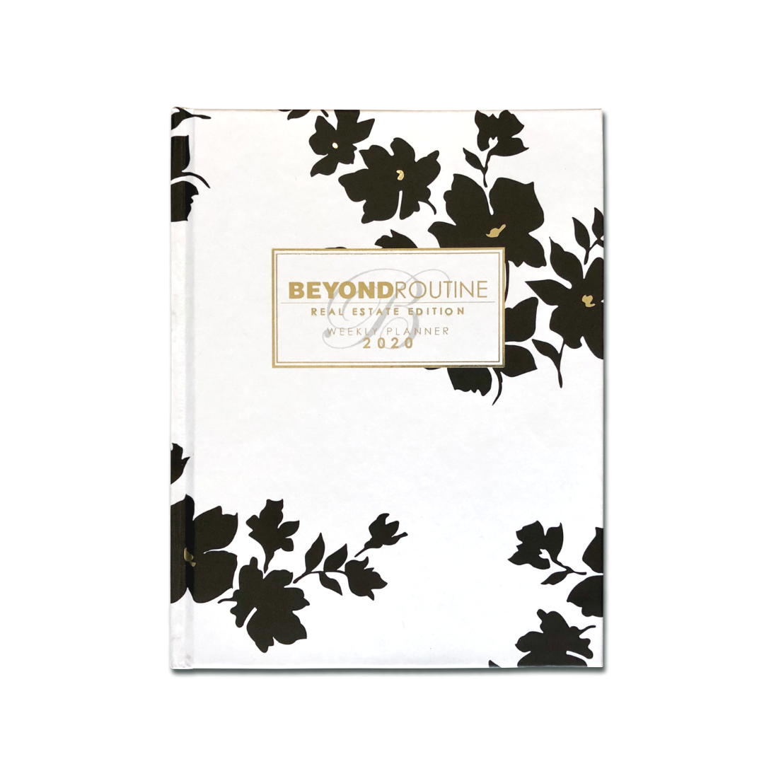 2020 Beyond Routine Weekly Real Estate Planner | Modern Floral