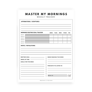 Master My Morning Weekly Tracker
