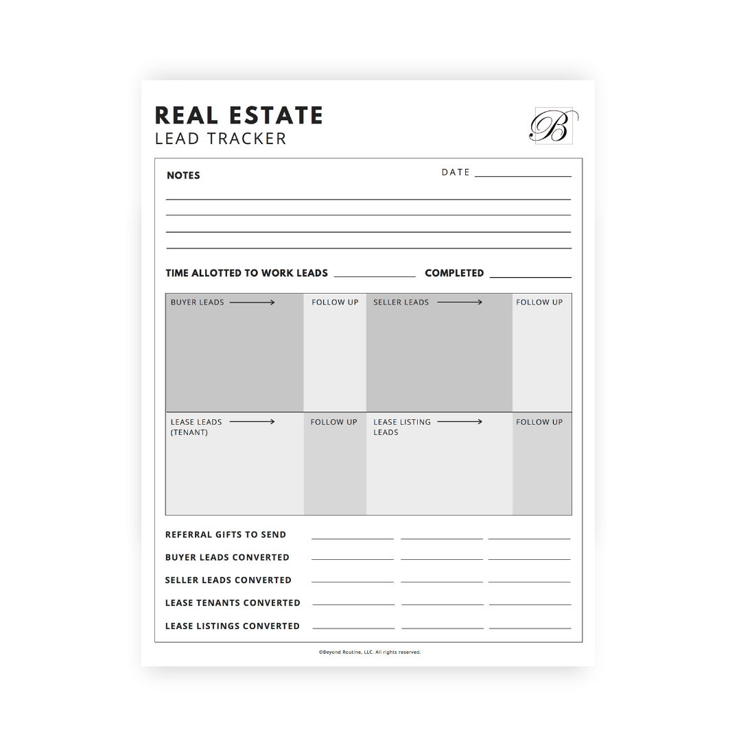 Real Estate Lead Tracker