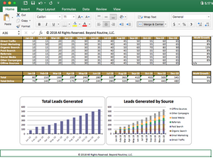 Masters of Marketing Spreadsheet