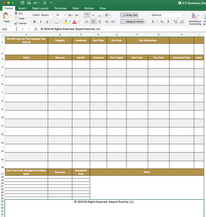 Ultimate Goal Mastersheet