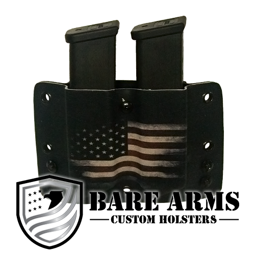 Double Mag Carrier - Colored Distressed American Flag