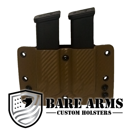 Double Mag Carrier - Brown Carbon Fiber