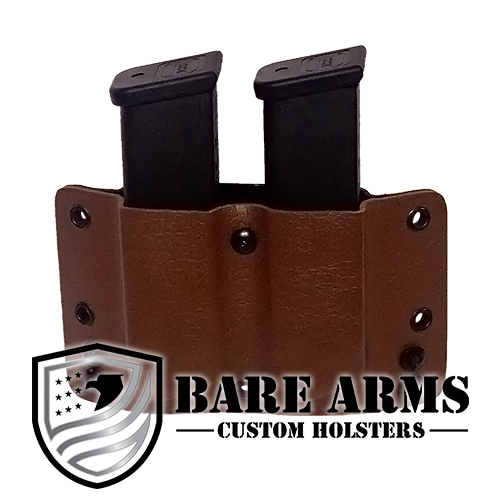 Double Mag Carrier - Brown Leather