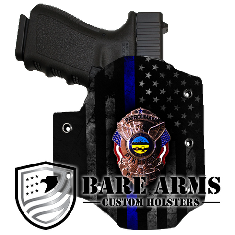 OWB Holster- Custom Police Badge or Patch