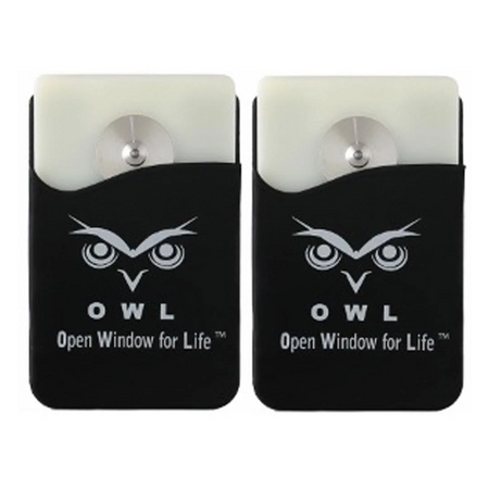 OWL® Car Escape Tool Card window breaker and seat belt cutter 2 Pk. Black