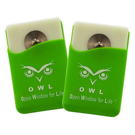 OWL® Car Escape Tool Card window breaker and seat belt cutter 2 Pk. Green