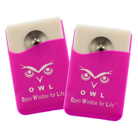 OWL® Car Escape Tool Card window breaker and seat belt cutter 2 Pk. Pink