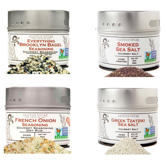 Stocking Stuffer - Luxury Seasoning & Salts- 4 Pack in A Gift Box