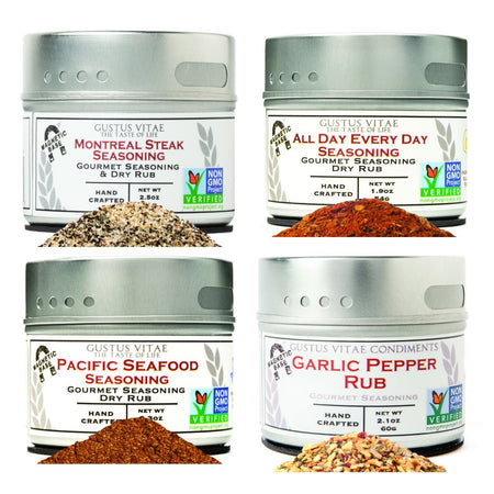 Holiday Cooking & Entertaining - Luxury Seasonings- 4 Pack In A Gift Box