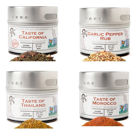 Taste The World - Global Gourmet Flavors - 4 Tins In A Gift Box