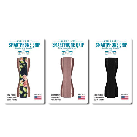 LoveHandle Smartphone Grips - 3 pack - Vintage Rose + Solid Rose + Solid Black
