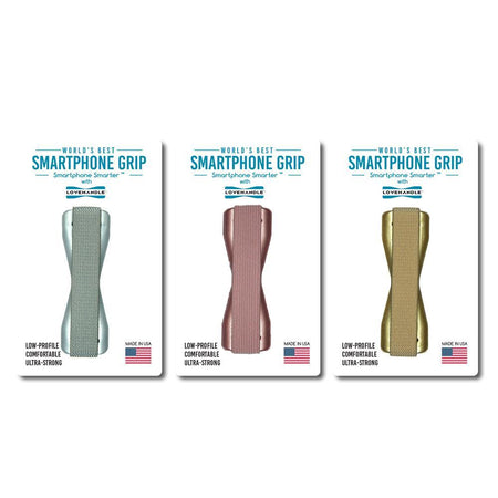 LoveHandle Smartphone Grips - 3 pack - Metallic