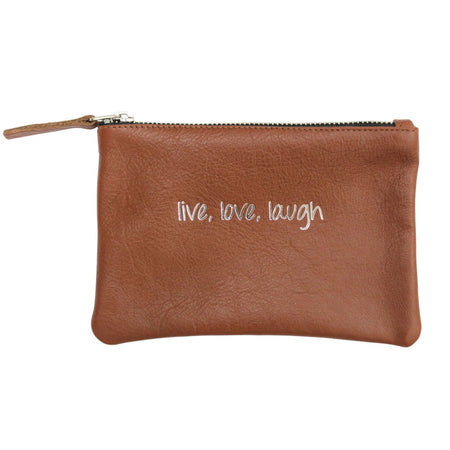 Live Love Laugh Leather Pouch