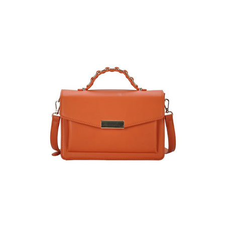 Rust Multi Compartment Top Handle Bag