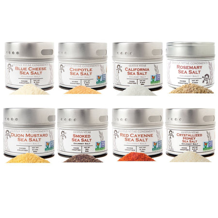Greatest Hits - Best Selling Sea Salts- 8 Tins In A Gift Box