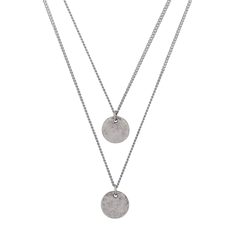 Double Medallion Necklace