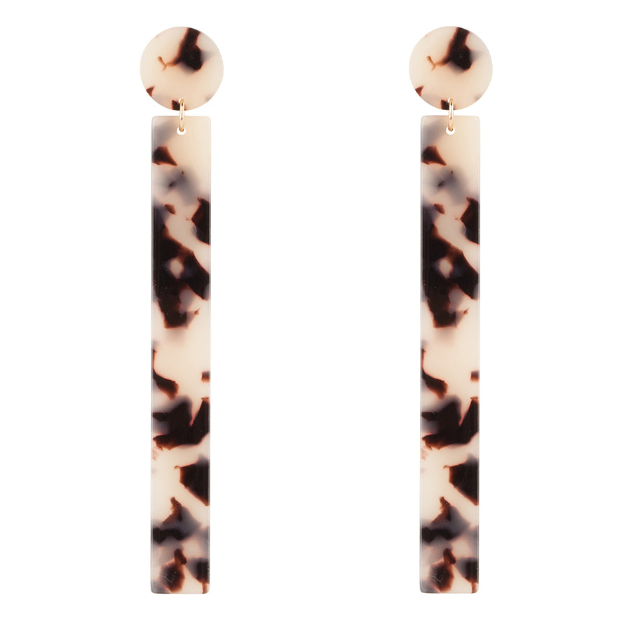 Leopard Bar Earrings