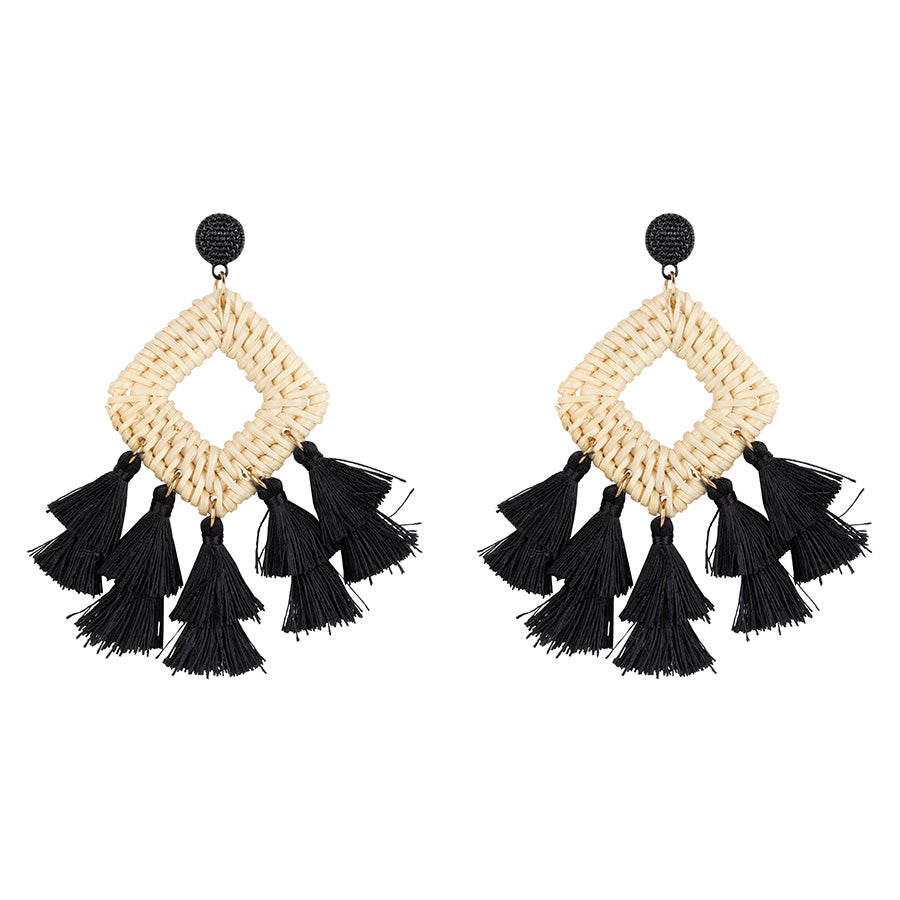 Rotan Fringe Earrings