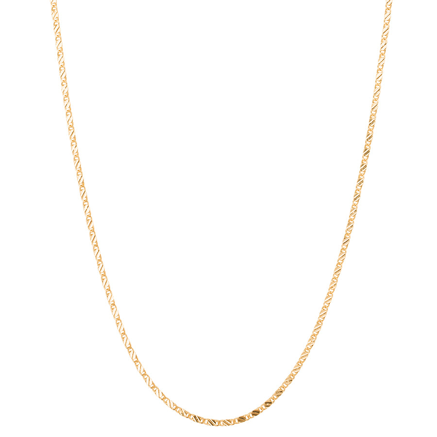 Long Box Chain Necklace